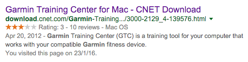 Garmin Training Center for Mac