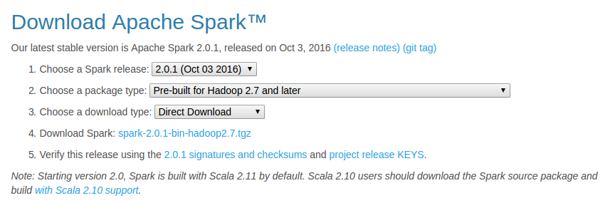 Download Apache Spark