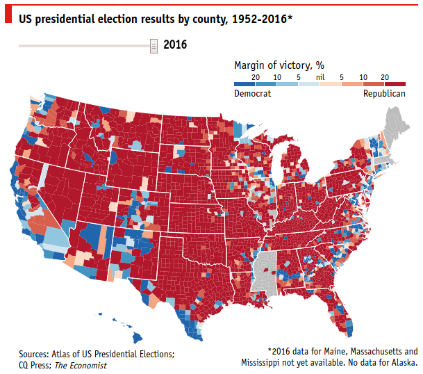 US presidential election results by county, 2016 - Original